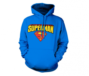 Bluza z kapturem Superman Blockletter Logo Dc Comics