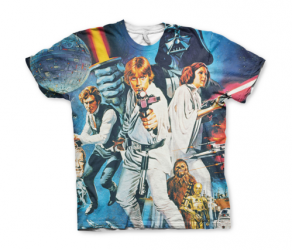 Koszulka męska 	 Star Wars Allover Retro Poster T-Shirt