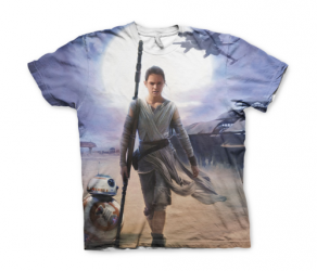 Koszulka męska Star Wars Rey Allover Printed T-Shirt