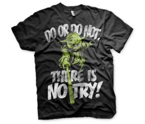 Koszulka męska Star Wars There Is No Try - Yoda T-Shirt