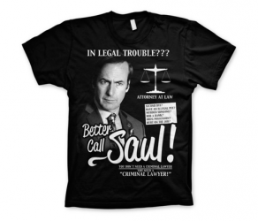 Koszulka męska czarna Better Call Saul t-shirt Breaking Bad