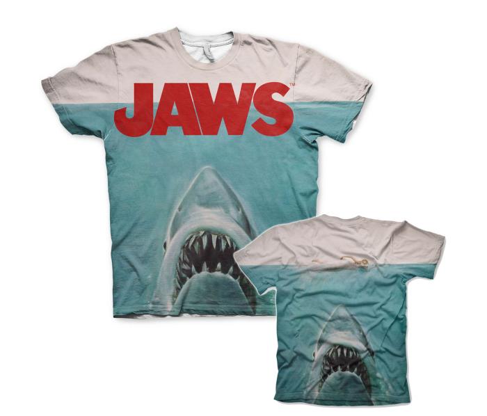 Koszulka męska JAWS Allover Printed T Shirt