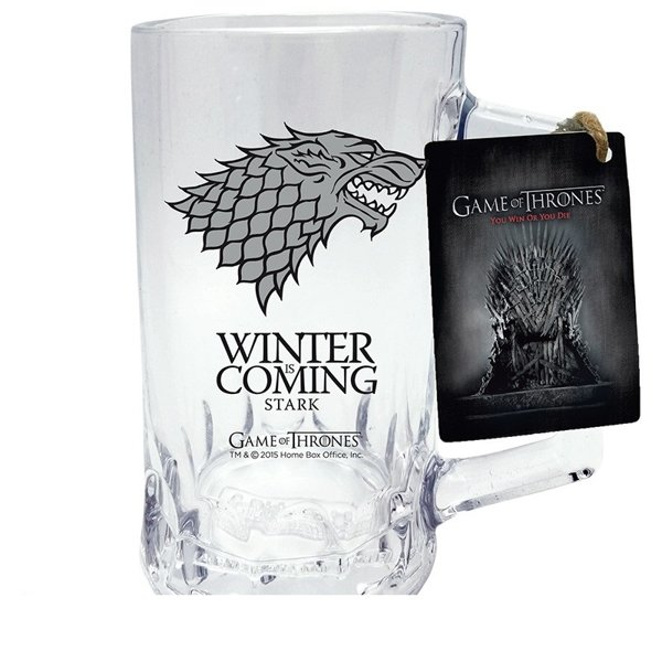 Szklany Kufel Game Of Thrones Winter Is Coming Stark