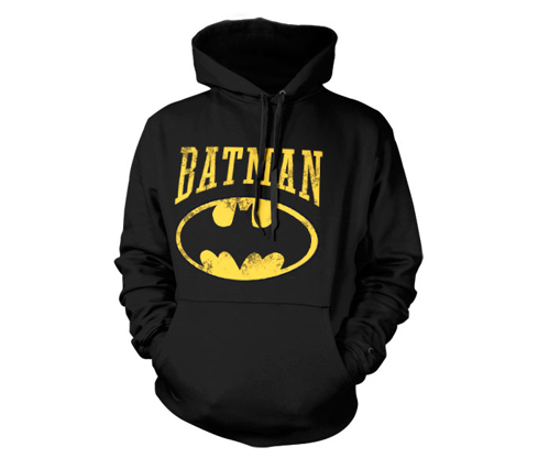 Bluza z kapturem Batman logo plus napis DC Comics