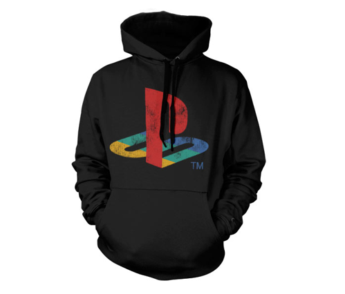 Bluza z kapturem Playstation Distressed Logo