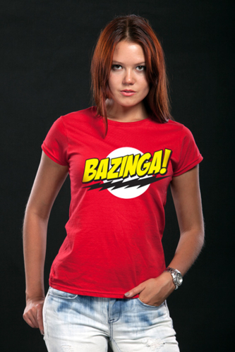Koszulka damska The Big Bang Theory - Bazinga Super Logo