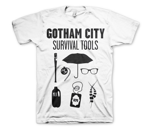 Koszulka męska Gotham City - Survival Tools t-shirt Dc Comics