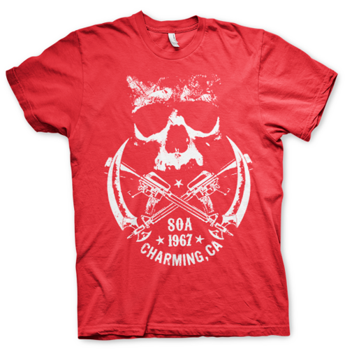Koszulka męska Sons Of Anarchy SOA 1967 Skull T-Shirt