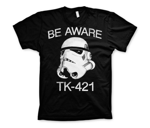 Koszulka męska Star Wars Be Aware TK-421 T-Shirt