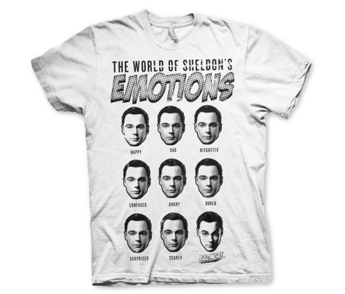 Koszulka męska The Big Bang Theory Sheldons Emotions T-Shirt