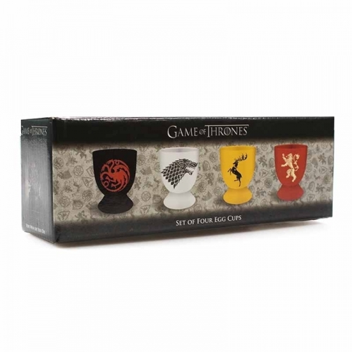 Podstawki do jajek Game of Thrones - Stark, Targaryen, Lannister & Baratheon