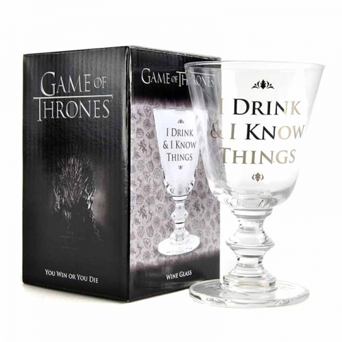 Szklany kielich Game of Thrones - I drink