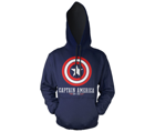 Bluza z kapturem Captain America - shield logo Marvel